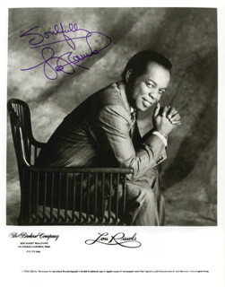 LOU RAWLS - PRINTED PHOTOGRAPH SIGNED IN INK