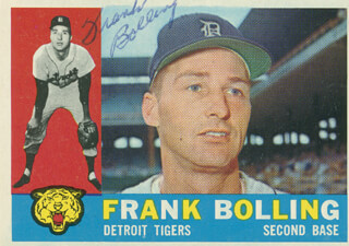 FRANK BOLLING - TRADING/SPORTS CARD SIGNED