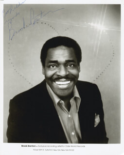 BROOK BENTON - AUTOGRAPHED INSCRIBED PHOTOGRAPH  - HFSID 205489