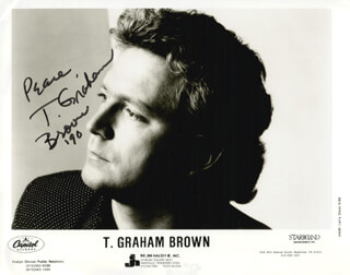 Autographs: T. GRAHAM BROWN - PRINTED PHOTOGRAPH SIGNED IN INK 1990