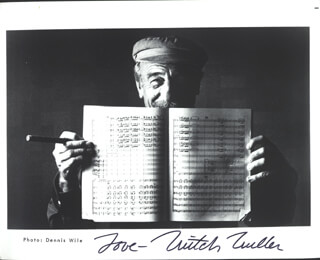 MITCH MILLER - AUTOGRAPHED SIGNED PHOTOGRAPH