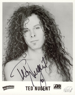 TED NUGENT - AUTOGRAPHED SIGNED PHOTOGRAPH