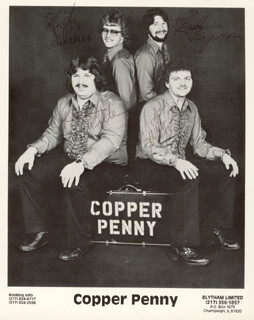 COPPER PENNY - PRINTED PHOTOGRAPH SIGNED IN INK