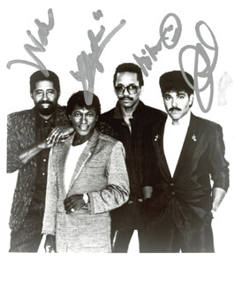 THE COMMODORES - AUTOGRAPHED SIGNED PHOTOGRAPH CO-SIGNED BY: THE COMMODORES (WILLIAM KING), THE COMMODORES (WALTER ORANGE), THE COMMODORES (MILAN WILLIAMS), THE COMMODORES (J. D. NICHOLAS)