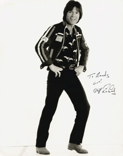 CLIFF RICHARD - AUTOGRAPHED INSCRIBED PHOTOGRAPH