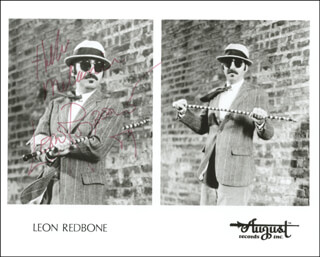 LEON REDBONE - AUTOGRAPHED INSCRIBED PHOTOGRAPH 1989