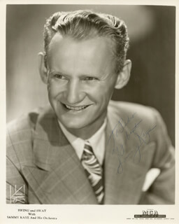SAMMY KAYE - AUTOGRAPHED INSCRIBED PHOTOGRAPH