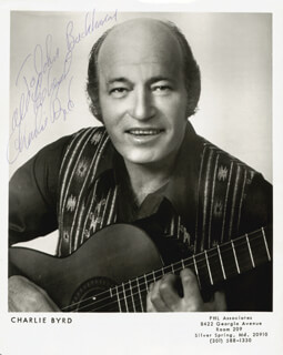CHARLIE BYRD - AUTOGRAPHED INSCRIBED PHOTOGRAPH