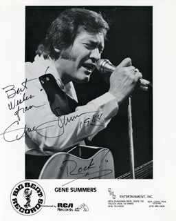 GENE SUMMERS - PRINTED PHOTOGRAPH SIGNED IN INK 1984