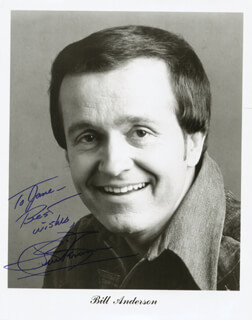 Autographs: BILL WHISPERING BILL ANDERSON - INSCRIBED PHOTOGRAPH SIGNED