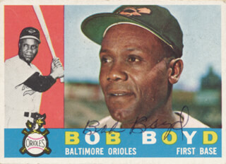 BOB THE ROPE BOYD - TRADING/SPORTS CARD SIGNED