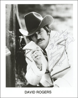 DAVID ROGERS - AUTOGRAPHED INSCRIBED PHOTOGRAPH