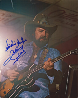 JOHNNY LEE - AUTOGRAPHED SIGNED PHOTOGRAPH