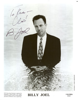 BILLY JOEL - AUTOGRAPHED INSCRIBED PHOTOGRAPH