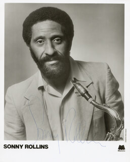 SONNY ROLLINS - AUTOGRAPHED SIGNED PHOTOGRAPH