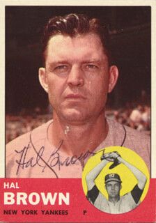 HAL SKINNY BROWN - TRADING/SPORTS CARD SIGNED