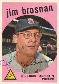 JIM PROFESSOR BROSNAN - TRADING/SPORTS CARD SIGNED