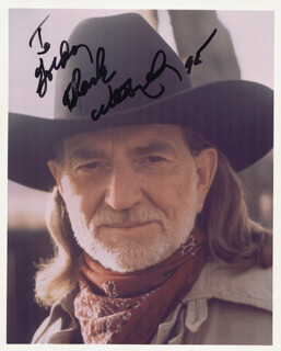 WILLIE NELSON - AUTOGRAPHED INSCRIBED PHOTOGRAPH