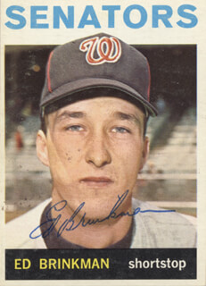 ED BRINKMAN - TRADING/SPORTS CARD SIGNED