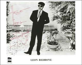 LEON REDBONE - AUTOGRAPHED INSCRIBED PHOTOGRAPH 1996