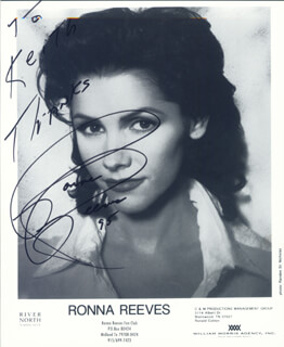 RONNA REEVES - INSCRIBED PRINTED PHOTOGRAPH SIGNED IN INK 1995
