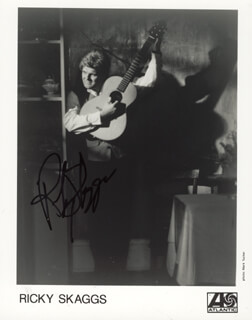 RICKY SKAGGS - AUTOGRAPHED SIGNED PHOTOGRAPH