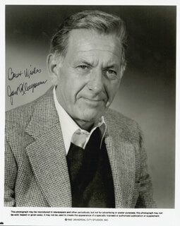 JACK KLUGMAN - PRINTED PHOTOGRAPH SIGNED IN INK