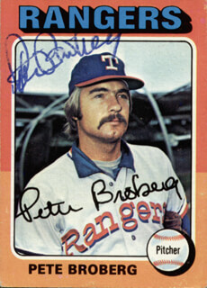 PETE BROBERG - TRADING/SPORTS CARD SIGNED
