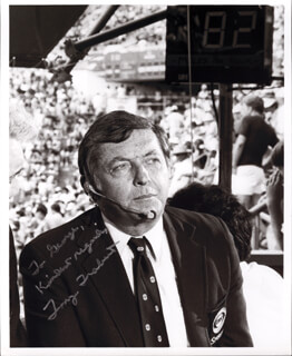 TONY TRABERT - AUTOGRAPHED SIGNED PHOTOGRAPH