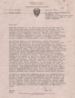 HOWARD BARTON - MEMORANDUM SIGNED 06/26/1963