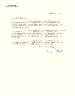 IRWIN SHAW - TYPED LETTER SIGNED 09/12/1979
