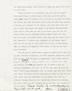ALAN SILLITOE - TYPED LETTER SIGNED 03/21/1979