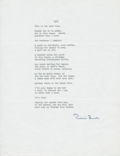 PHILIP BOOTH - POEM SIGNED