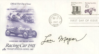 LOU MEYER - FIRST DAY COVER SIGNED