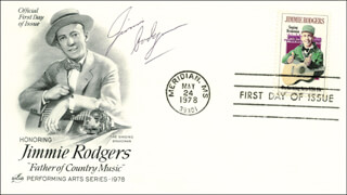 JIMMIE F. RODGERS - FIRST DAY COVER SIGNED