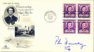 PETER BENCHLEY - FIRST DAY COVER SIGNED