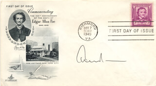 EDWARD ALBEE - FIRST DAY COVER SIGNED