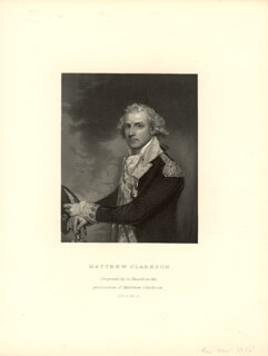 MATTHEW CLARKSON - ENGRAVING UNSIGNED