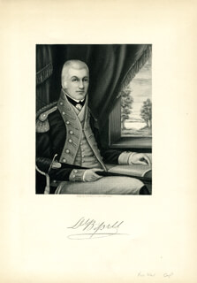BRIGADIER GENERAL DANIEL BISSELL - ENGRAVING UNSIGNED
