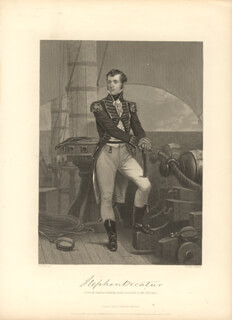 COMMODORE STEPHEN DECATUR - ENGRAVING UNSIGNED