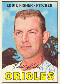 EDDIE FISHER - TRADING/SPORTS CARD SIGNED