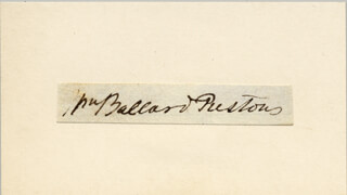WILLIAM B. PRESTON - AUTOGRAPH