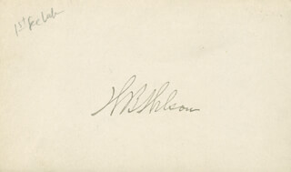 Autographs: WILLIAM B. WILSON - SIGNATURE(S)