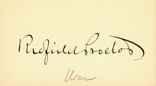 REDFIELD PROCTOR - AUTOGRAPH