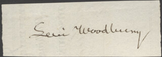 ASSOCIATE JUSTICE LEVI WOODBURY - CLIPPED SIGNATURE