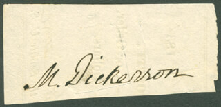 MAHLON DICKERSON - CLIPPED SIGNATURE