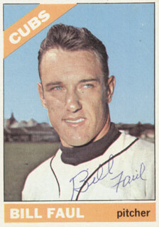 BILL FAUL - TRADING/SPORTS CARD SIGNED
