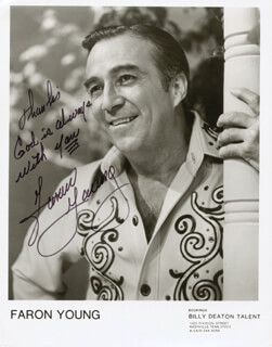 FARON THE SHERIFF YOUNG - AUTOGRAPHED SIGNED PHOTOGRAPH