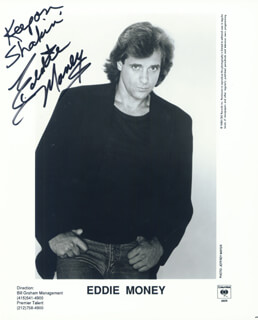 EDDIE MONEY - PRINTED PHOTOGRAPH SIGNED IN INK