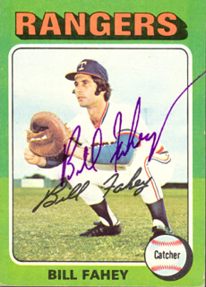 BILL FAHEY - TRADING/SPORTS CARD SIGNED